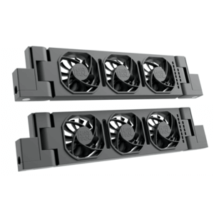 HeatFan 3 - Dubbele Set Radiator Ventilator - Black Edition