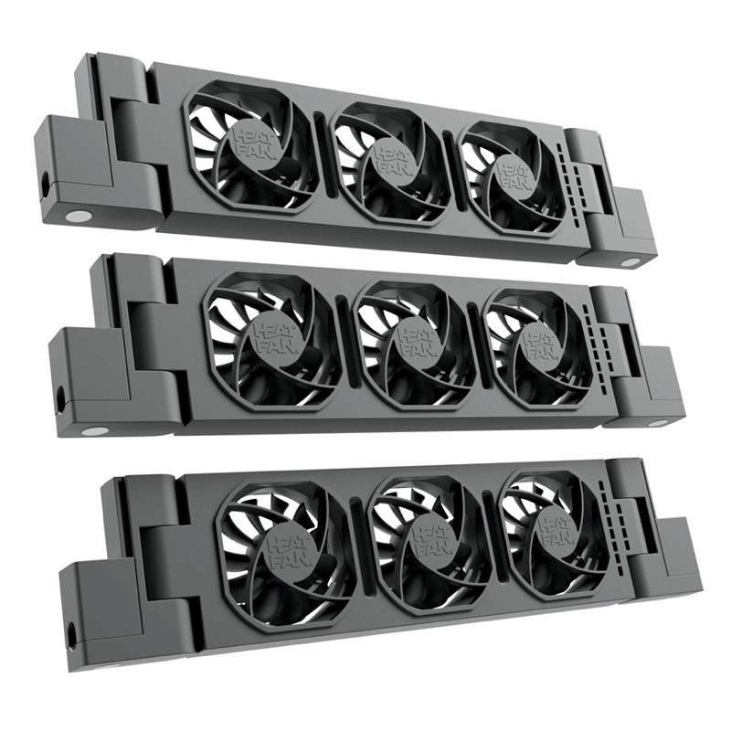 HeatFan 3 - Trio Set Radiator Ventilator - Black Edition