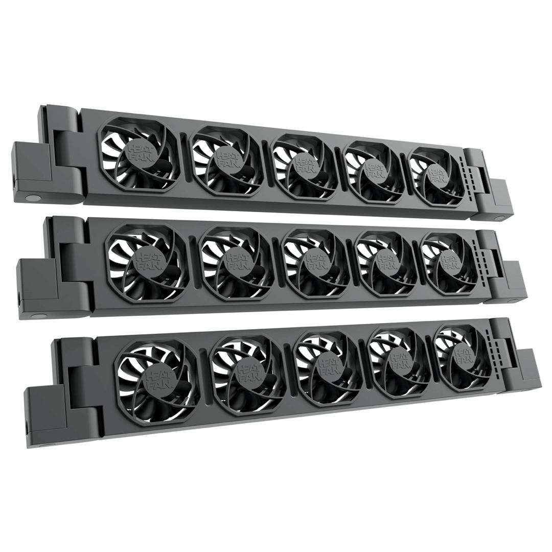 HeatFan 5 - Trio Set Radiator Ventilator - Black Edition