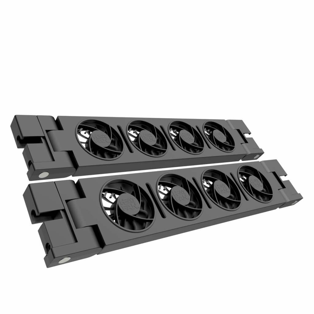 HeatFan 4 - Dubbele Set Radiator Ventilator - Black Edition
