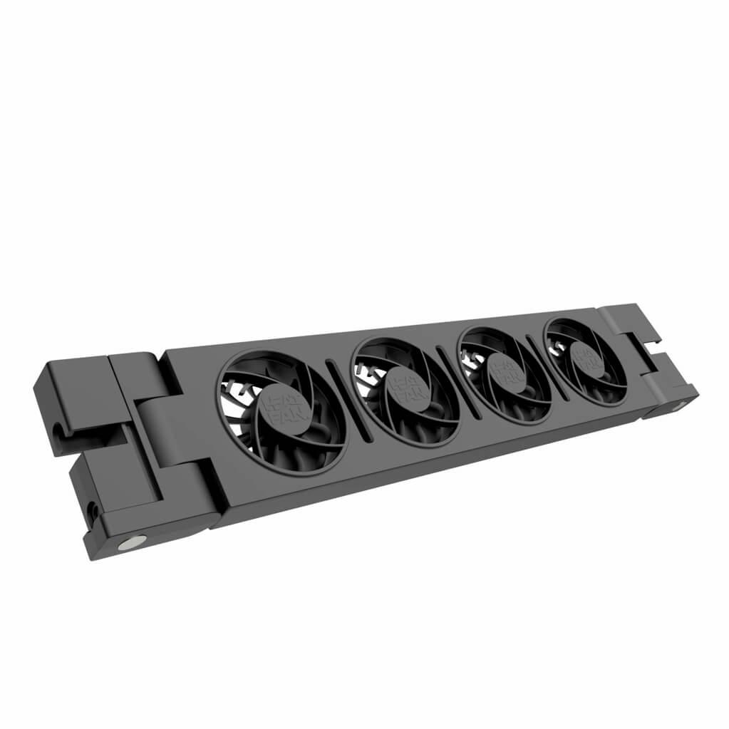 HeatFan 4 - Enkele Set Radiator Ventilator - Black Edition